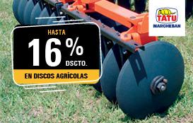 Discos agrícolas marca Tatu Marchesan